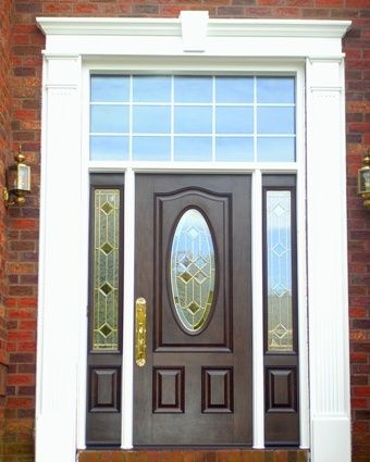This door and transom are beautiful. We also replaced the entry surround with Fypon. & Entry Doors u0026 Sliding Glass Doors u2022 American Windows u0026 Siding of VA ...