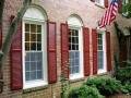New louvered shutters will take years off your home.They will never fade or need to be painted, and are an easy way to make your new windows stand out.