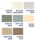 Prodigy Next Generation Insulated Siding Color Palette